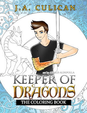 Keeper of Dragons the Coloring book